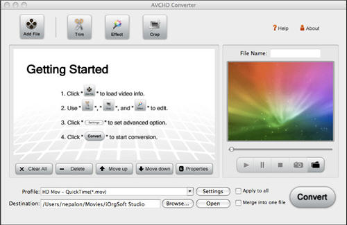 AVCHD Editor for Mac